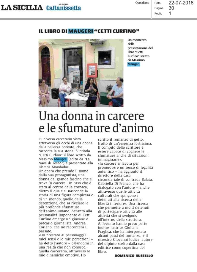 LA SICILIA Caltanissetta 22.7.2018